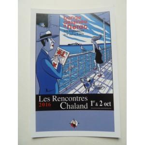 Carte Postale Affiche LOUSTAL Rencontres Chaland 2016