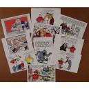 Cartes Postales Lot.10+1 Yves CHALAND, BullesJ.ALBERT Rencontres Chaland 2017