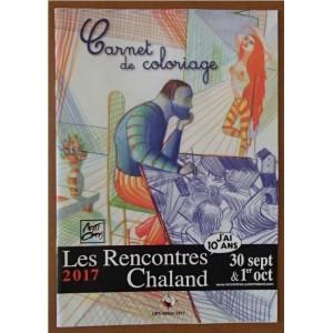 Carnet Coloriage 10 affiches Rencontres Chaland 2017
