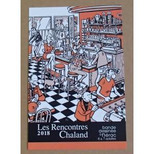 Carte Postale Affiche MARGERIN Rencontres Chaland 2018