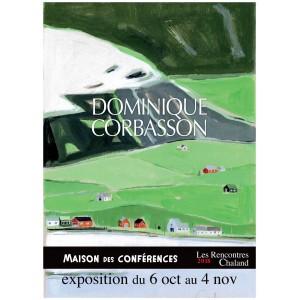 Affiche Expo2018 DOMINIQUE CORBASSON Rencontres Chaland 2018