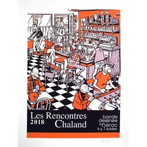 Sérigraphie Rencontres Chaland 2018 par MARGERIN