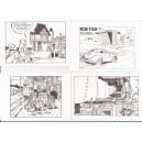 Cartes Postales Yves Chaland lot 9+1 Joost Swarte