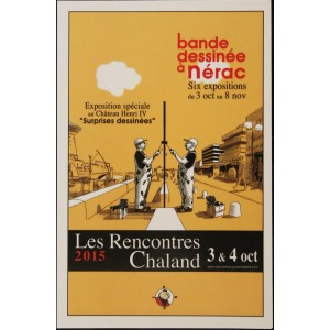 Carte Postale Affiche PRUDHOMME RABATE Rencontres Chaland 2015